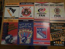 Vintage Bernie Kosar Birthday Cards New York Rangers Njdevils Boston Bruins