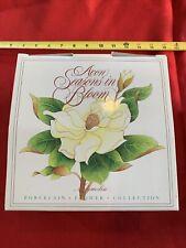1986 Avon Seasons in Bloom Magnolia Yellow Peace Rose Porcelain Flower