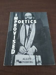 Improvised Poetics by Allen Ginsberg SIGNED