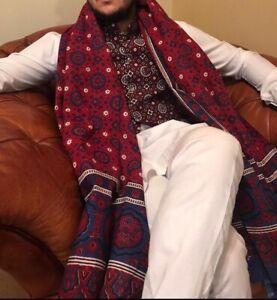 Ajrak Sindhi Chaddar Shawl Pakistani