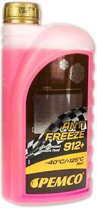 1 x 1 Liter PEMCO Antifreeze 912+ Kühlflüssigkeit rosa rot violett Typ G12