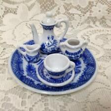 Vintage, Norcross, Blue Willow 7pc Doll House - Miniature Tea Set (B)