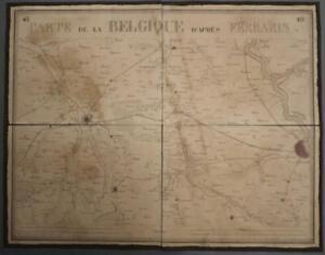 COLOGNE JÜLICH NORTH RHINE GERMANY 1831 VANDERMAELEN LARGE ANTIQUE MAP N° 18