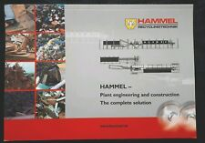 Hammel Plant Engineering & Construction Colour Catalogue A4