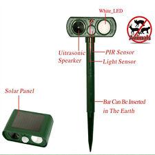 Solar Repeller Bats Bird Animal PIR Motion Activa Repellent Sound Flashlight AU