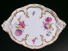 "Antique KPM Porcelain Neuzierat 14"" Oval Serving Tray Platter Berlin Germany"