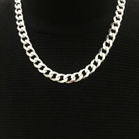 Mens Miami Cuban Chain Curb Link JayZ Tight 925 Sterling Silver 8mm 102GR 28Inch