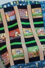 "Beer Quilt-Beer Sayings-Man Cave-Drink-59-1/2"" x 64""-Warm & Natural Batting"