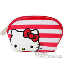 Sanrio Hello Kitty Red Striped Cosmetic Pouch
