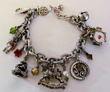 "Retired Brighton Christmas Holiday Joy Charm Bracelet - 13 charms 7 1/2 - 8 3/4"""