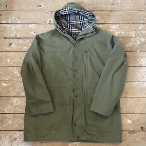Rare Vtg Peter Storm Poplin Parka Jacket Coat 2XL Green Nova Check
