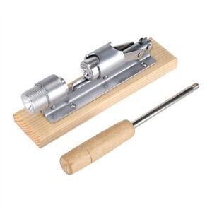 Mechanical Walnut Cracker Nut Opener Kitchen Tools Desktop Wood Base & Handle AG