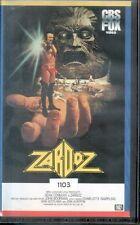 ZARDOZ VHS RARO CBS FOX CIC VIDEO (Ottime Condiz. Ex Noleggio) no dvd