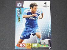 JUAN MATA CHELSEA BLUES UEFA PANINI CARD FOOTBALL CHAMPIONS LEAGUE 2011 2012