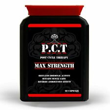 PCT POST CYCLE THERAPY - TESTOSTERONE BOOSTER  -  MAX STRENGTH -  2 MONTH SUPPLY