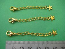 Extensor cadena langosta Con Broche Y Star, chapado en oro