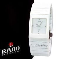 NEW Rado Ceramica Jubile White Ceramic Diamond Watch R21711702