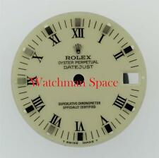 Genuine Rolex Midsize Datejust 68240 78274 Ivory Roman with Stick Dial S/S #F11