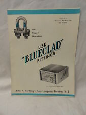 Roebling Wire Company Trenton NJ  Blueclad Fittings 8 1/2 x 11 Booklet 1930's