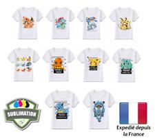 T-shirts POKEMON enfant Pikachu Dracaufeu Florizarre Salameche Evolution 6-8 ans