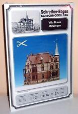 KARTONMODELLBAU Villa Braun Metzingen SCHREIBER-BOGEN 581  Spur H0
