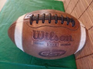 Wilson 1003 GST NCAA Genuine Leather Football WTF-1003 Made In The USA