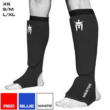 Meister эластичная ткань Shin & InStep Guards-Муай Тай ММА тхэквондо щитки для ног