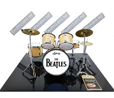 Mini Drum set Bleatles miniature gadget 1:4 dolls size rock band tribute figure