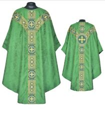 Priest Pastor St. Andrews  Chasuble Green Gothic Vestment & Stole