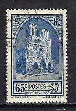 France 1938 Cathédrale de Reims Yvert n° 399 oblitéré 1er choix (3)