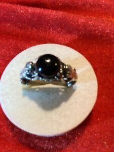 Ring 925 Silber Onyx 2 Frösche / Frosch