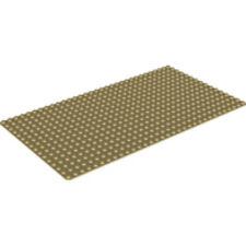 LEGO - Rectangle Base Plate - 16 X 32 - Tan
