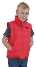 Wulfsport cub leisure wear gilet jacket red kids small motocross motorbike
