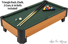 Sports Indoor Game Table Top Pool Game Cues Balls 40'' Billiard Snooker Set Gift