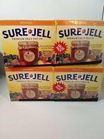 Sure-Jell Original Premium  Fruit Pectin, 4 Ct-1.75 oz boxes, New & Sealed