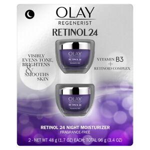 Olay Regenerist Retinol 24 Night Facial Moisturizer (1.7 fl oz, 2 pk) Deal!!