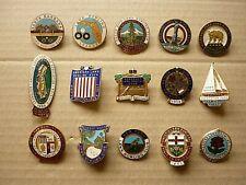 More details for fifteen (15) vintage enamel badges american tour & bowling clubs h.w. miller