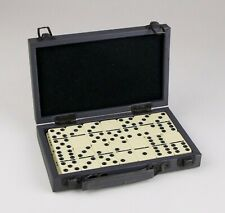 Double Six Dominoes - 28 pieces - in Gray Carry Case