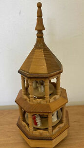 Vintage Hand Crafted Christmas  Wooden Nativity Scene Musical (D3)