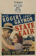 STATE FAIR Movie POSTER 27x40 C Janet Gaynor, Will Rogers