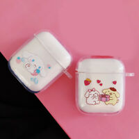 Cute Cinnamoroll Dog Case Airpods Shockproof Cover for Apple Bluetooth Earphone