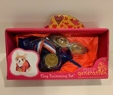 """Our Generation Dog Swimming Set Dog Bathing Suit Pet Pup For 18"""" Doll"""