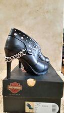 Harley-Davidson® Women's Lena Black 3.75-Inch Hi-Heel Shoes Size 7.5, NIB