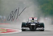 Bruno Senna Firmato a Mano 12x8 PHOTO Williams f1 14.