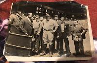 BABE RUTH NEW YORK YANKEES OPENING DAY ORIGINAL PHOTO 1933