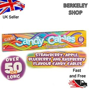Over 50cm long Giant Candy Cables , Four fruity flavour with a fondant centre.