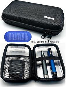 Tasche Hardcase Blutzuckermessgerät & Diabetes Zubehör Diabetikertasche Insulin