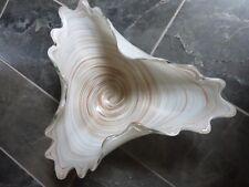 Murano Fratelli Toso Massive Spiral Glass Bowl, 15 Pounds