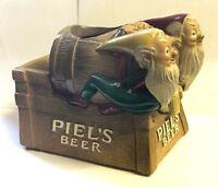 Piel's Beer Dwarfs/Gnomes Advertising Metal Keg Pot
