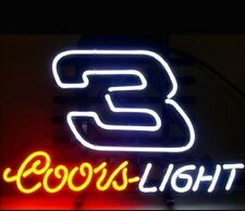"""New Coors Light Nascar Dale #3 Beer Bar Neon Sign 19""""x15"""""""